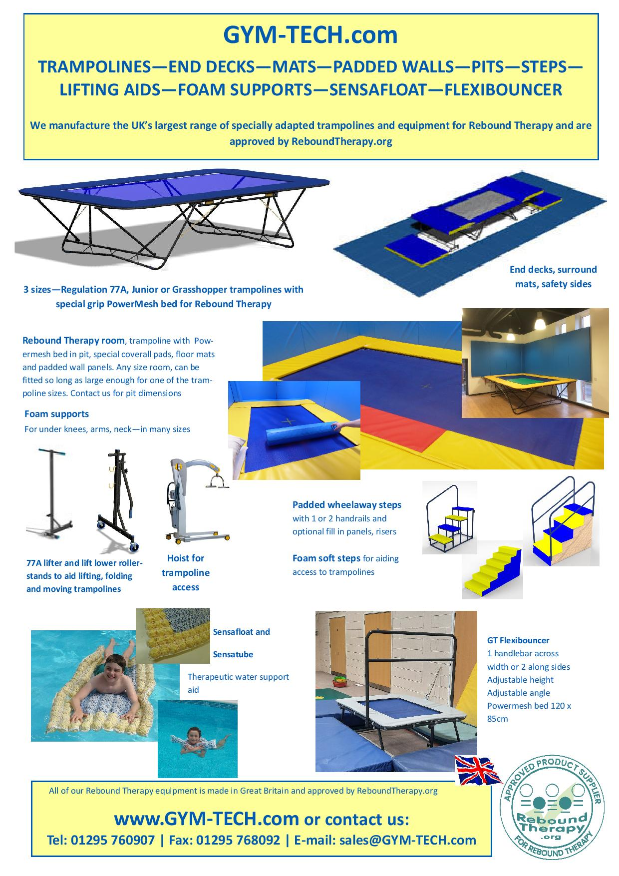 Trampolines and Equipment